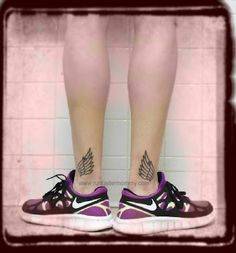 Cool tattoo idea! Especially if you're like a runner or something. ..Love the shoes too :)