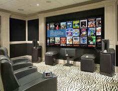 My type of media room.