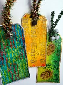 ellen vargo ... ten thirty-six art: Distress Christmas Gift Tags