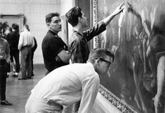 Students studying art at the Minneapolis School of Art in the 1960's.