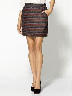 Jack by BB Dakota Ombre Striped Skirt | Piperlime