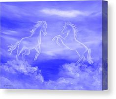 Spirit Horses Wood Print by Faye Anastasopoulou - Elwira Blount Wall Art Prints, Poster Prints, Canvas Prints, Horse Oil Painting, Fine Art Posters, Cloud Art, Thing 1, Horse Art, Art Oil