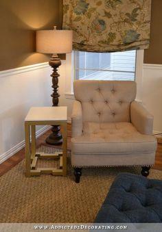 DIY home crafts DIY Side Table With Greek Key Base DIY home crafts