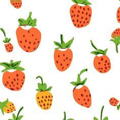 Windham / Heather Ross / Briar Rose / Strawberries / White   Home Ec. Workshop