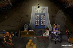 In the attic - Auf dem Dachboden