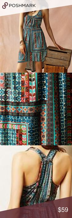Anthropologie Laguna racerback dress Excellent condition! Anthropologie Dresses Midi
