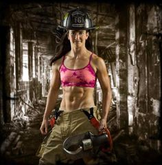 "My fire-fighting ""other daughter.""  Professional firefighter and calendar girl, currently fighting major fires in Boulder, Colorado."