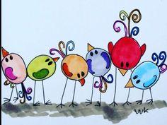 It is Lost - birds looking for something waar is het gebleven? Vogeltjes Vogels / Design: A Second Life (The Netherlands) Watercolor Cards, Watercolor Paintings, Art Fantaisiste, Art Populaire, Happy Paintings, Bird Drawings, Whimsical Art, Doodle Art, Bird Doodle