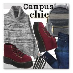 """""""Campus Chic - Fall 2015 - GrabMyLook"""" by grabmylook ❤ liked on Polyvore featuring Forum, rag & bone, vintage and country"""