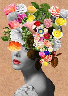 Design your everyday with collage art prints you'll love. Cover your walls with artwork and trending designs from independent artists worldwide. Photo Wall Collage, Collage Art, Collages, Flower Collage, Arte Floral, Floral Prints, Art Prints, Art Sketchbook, Art Lessons