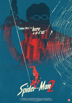 Spider-Man 2 (Sam Raimi, Alternative Poster by Gokaiju Spiderman Sam Raimi, Comics Spiderman, Spiderman Poster, Dc Comics, Marvel Comics Superheroes, Spiderman 2002, Spiderman Images, Manado, Spider Man Trilogy