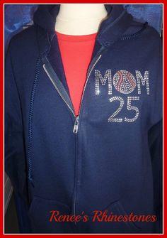 Baseball MOM HoodieSweatshirtSoftball Mom by TeamSparkle on Etsy, $39.99