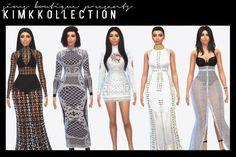 Kim Kardashian collection (Part One) at Sims Boutique via Sims 4 Updates