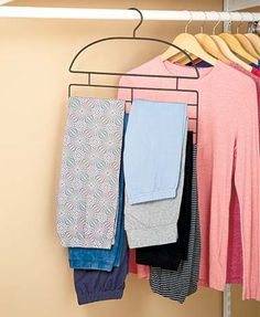 Ensure Your Leggings Are Neatly Hung In Your Closet With The Leggings  Hanger Organizer. The Wire Hanger Slips Over The Closet Rod And Enables You  To Find ...