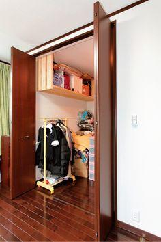 寝室には十分な収納ができるウォークインクローゼットを設置。