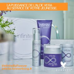 Who will you be offering Infinite anti-aging care by Forever as Valentin gift? With these quality facials, you will please everyone! Indeed, these comprehensive treatments give the skin a radiant appearance and help reduce the appearance of fine lines and Aloe Vera, Forever Living Business, Forever Aloe, Forever Living Products, Facial Skin Care, Health And Beauty, Cleanser, Moisturizer, Serum