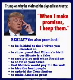 Not to mention a lifetime of committing fraud and theft of services which is, by definition, making and breaking promises.