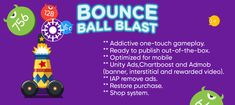 Bounce Ball Blast App Source Code available in app marketplace. Get the App Source Code for iOS, Android and Unity on AppnGameReskin. N Game, Game App, Mobile Game Development, Game Design, Unity, Things That Bounce, Ios, Android, Coding