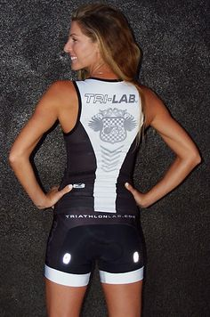 Tri LAB triathlon race kit - back side. Oh man I want this!!!