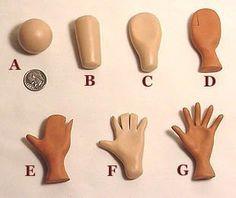 Photo tutorial on making hands for polymer clay dolls or art figures. Gallery.ru / Фото #6 - Технология - Inna-Mina
