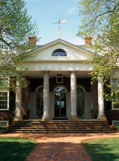 Portico: A large porch usuallly with a pediment roof supported by classical columns or pillars.