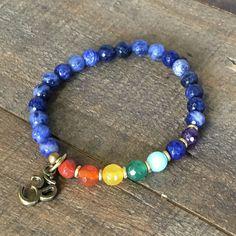 Third Eye Chakra, Sodalite and Chakra Gemstones Chakra Bracelet Chakra Necklace, Chakra Jewelry, Gemstone Jewelry, Healing Bracelets, Beaded Bracelets, Ankle Jewelry, Spiritual Jewelry, Third Eye Chakra, Handmade Beaded Jewelry
