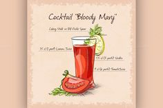 Bloody Mary cocktail by Netkoff on Creative Market