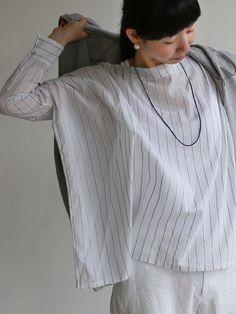 Лодка шеи большой рубашку ~ лента полоса хлопок 1