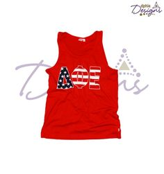 Celebrate National Wear Red Day with the Delta Phi Epsilon Red America Tank!!