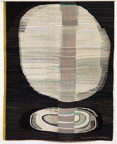 Uke 20: Synnøve Anker Aurdal, Magisk måne, 1967. Ull- og metalltråd, tilhører Nasjonalmuseet