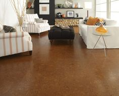 Available in a variety of styles that gracefully convey a rustic, yet modern feel, cork makes for an exceptionally durable and pleasantly inviting floor!   2015 Fall Flooring Trends