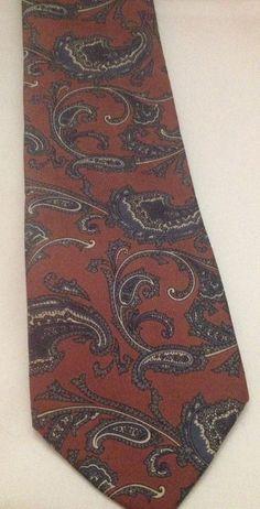 Mallory & Church London Multi Color Silk Paisley Neck Tie USA Made #MalloryChurch #NeckTie