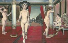 Paul Delvaux - Les courtisanes rouges