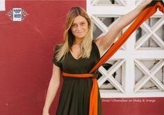 #moda #mulher #roupa #presentes #portugal #vestidos| Limited edition: only 12 made | Dress Chameleon on khaky and orange | Sizes: U