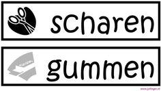 Labels - Juf Inger Organization Station, Classroom Organization, Classroom Management, Labels, Spelling, Back To School, Teacher, Education, Scrabble