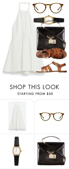 """""""Untitled #5714"""" by laurenmboot ❤ liked on Polyvore featuring Oliver Peoples, American Apparel, Rebecca Minkoff and Windsor Smith"""