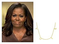 Michele Obama Wearing Vote Necklace Get Out The Vote, Patriotic Party, Block Lettering, Love Necklace, Michelle Obama, Every Woman, Getting Out, Style Me, People