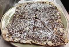 """Dolce Vita"" Valrhona Dark Chocolate, Ricotta & Mascarpone Pizza."