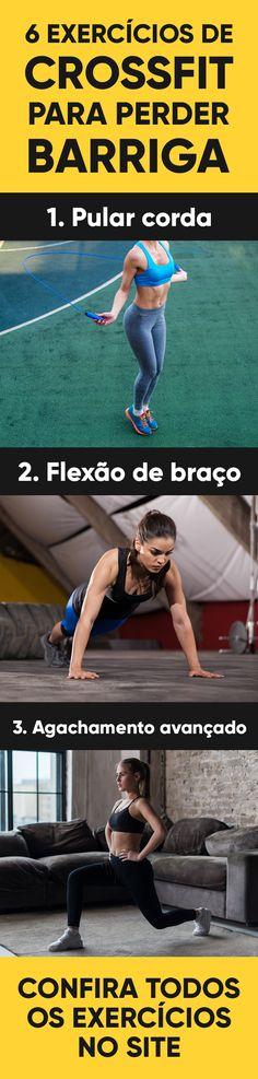 O CrossFit é uma modalidade de treino onde o objetivo é a alta intensidade, podendo ser em forma de circuito, que deve ser realizado de 3 a 5 vezes por semana e que requer algum condicionamento físico porque há muito pouco tempo de descanso entre cada exercício. #dieta #dietas #emagrecer #perderpeso