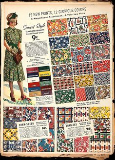 1930s vintage fabrics...I'd like to purchase fabrics for 9 cents/yard please.