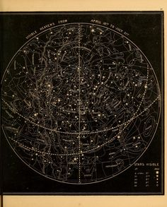 Visible heavens from April 18th to July 21st (1855)