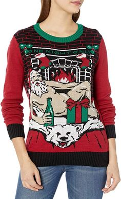 Forum Novelties Womens Light-up Ugly Christmas Sweater