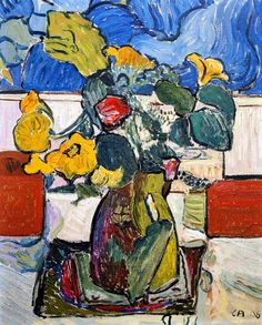 Still life with flowers 1908 Cuno Amiet