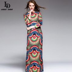 Autumn Winter Women Dress Patchwork Print Embroidered Vests ethnic Vintage Dress Isn`t it awesome? www.sukclothes.co... #shop #beauty #Woman's fashion #Products
