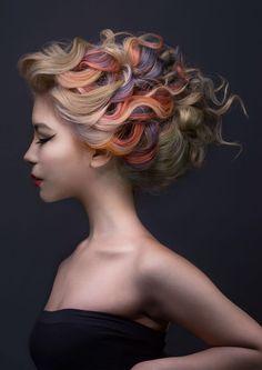 hair creations for 2015 Goldwell Colour Zoom Competition Color Fantasia, Creative Hair Color, Avant Garde Hair, Editorial Hair, Fantasy Hair, Haircut And Color, Hair Creations, Hair Shows, Creative Hairstyles