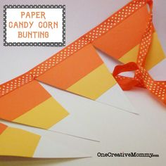 Free pattern for this super cute paper candy corn bunting from One Creative Mommy!