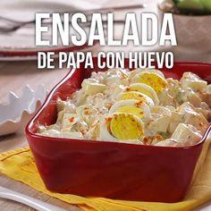 Ensalada de Papa con Huevo - Whole Tutorial and Ideas Cucumber Recipes, Lunch Recipes, Easy Dinner Recipes, Mexican Food Recipes, Vegetarian Recipes, Easy Meals, Cooking Recipes, Healthy Recipes, Cooking Games