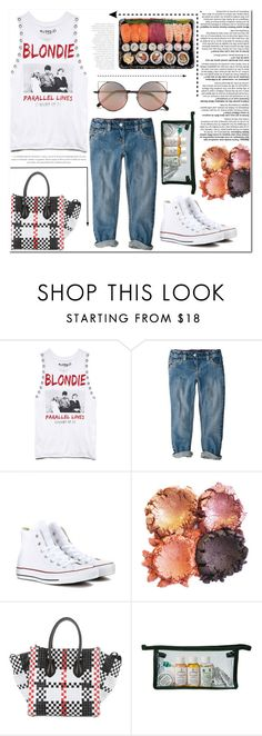 """""""Im With The Band"""" by es-vee ❤ liked on Polyvore featuring Forever 21, Converse, CÉLINE and Linda Farrow"""