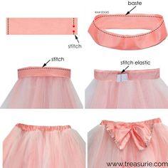 Tulle Skirt Kids, Diy Tutu Skirt, Baby Skirt, Tutu Skirts, Tutu Pattern, Skirt Pattern Free, Free Pattern, Little Girl Tutu, Little Girl Dresses