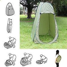 Amazon.com: Faswin Large Portable Outdoor Pop Up Toilet Tent Camping Shower Privacy Shelter Changing Room Green (Large Size): Sports  Outdoors